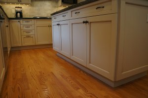 A beautiful new kitchen after a remodel with hardwood floors